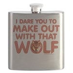 I Dare You Wolf Make-out Flask