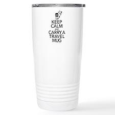 Keep Calm and Carry Travel Mug Thermos Mug