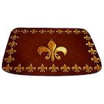 Old Leather with gold Fleur-de-Lys Bathmat