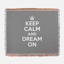 Keep Calm And Dream On Woven Blanket
