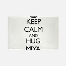 Keep Calm and HUG Miya Magnets