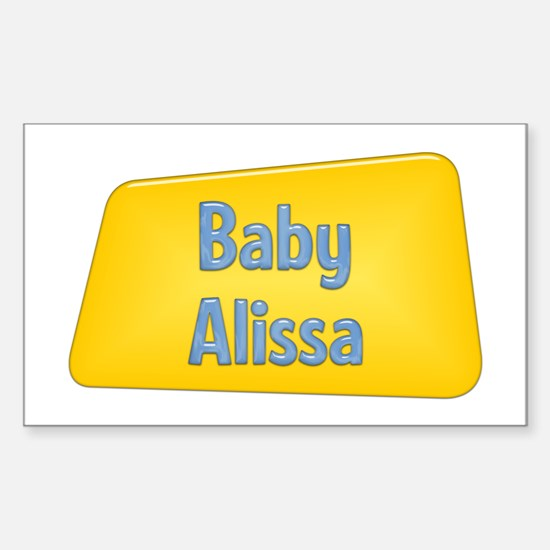 Baby Alissa Rectangle Decal