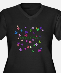 Butterfly Kiss my Port Plus Size T-Shirt