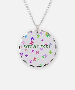 Butterfly Kiss my Port Necklace