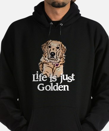 Life is Just Golden Hoodie (dark)