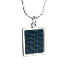 Tartan - Forbes Silver Square Necklace