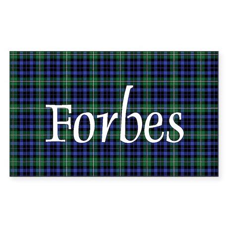 Tartan - Forbes Sticker (Rectangle)