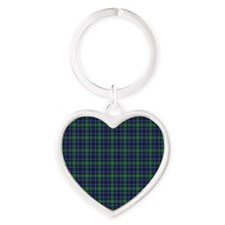 Tartan - Forbes Heart Keychain