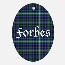 Tartan - Forbes Ornament (Oval)