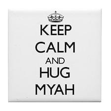 Keep Calm and HUG Myah Tile Coaster