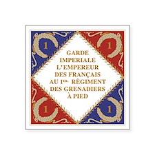 """Flag of Napoleon's Guard Square Sticker 3"""" x 3"""""""