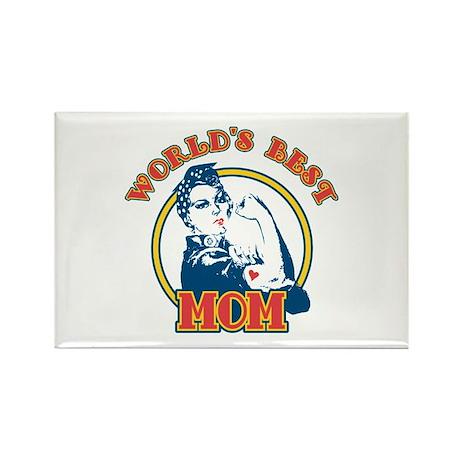 Rosie Riveter Best Mom Rectangle Magnet
