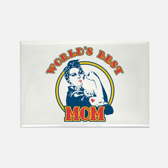 Rosie Riveter Best Mom Rectangle Magnet