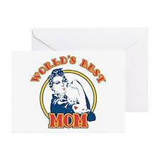 Rosie Riveter Best Mom Greeting Cards (Package of