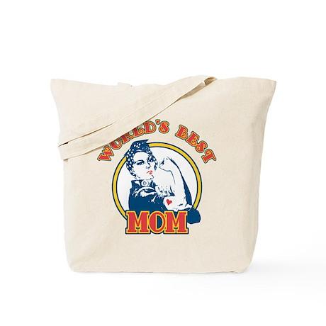 Rosie Riveter Best Mom Tote Bag