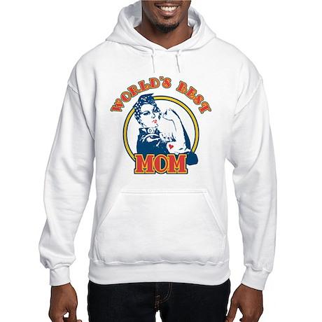 Rosie Riveter Best Mom Hooded Sweatshirt