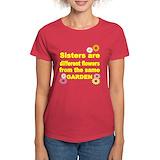 Womens sisters garden Women's Dark T-Shirt