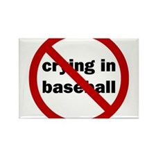 """No Crying in Baseball"" Magnets"