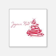 Joyeux Noël in Red Sticker