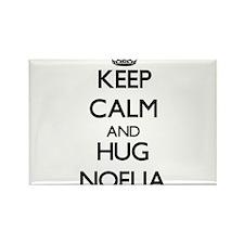 Keep Calm and HUG Noelia Magnets