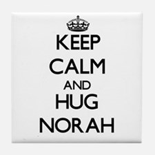 Keep Calm and HUG Norah Tile Coaster