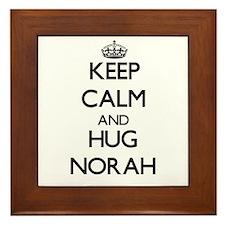 Keep Calm and HUG Norah Framed Tile