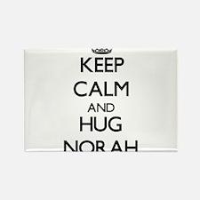 Keep Calm and HUG Norah Magnets