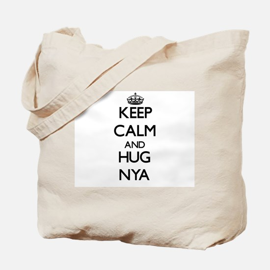 Keep Calm and HUG Nya Tote Bag