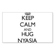 Keep Calm and HUG Nyasia Decal
