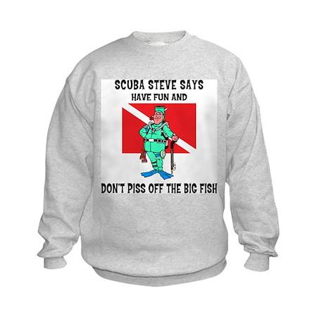 SCUBA Steve Says Kids Sweatshirt