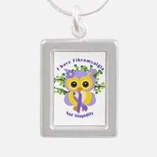 I have Fibromyalgia Silver Portrait Necklace