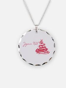 Joyeux Noël in Red Necklace