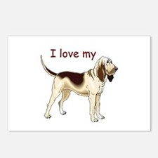 I love my Bloodhound Postcards (Package of 8)