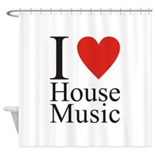 I Love House Music Shower Curtain