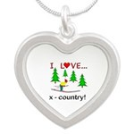 I Love X Country Silver Heart Necklace