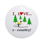 I Love X Country Ornament (Round)