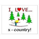 I Love X Country Small Poster