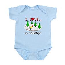 I Love X Country Infant Bodysuit