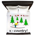 I Love X Country King Duvet