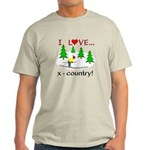 I Love X Country Light T-Shirt