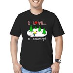 I Love X Country Men's Fitted T-Shirt (dark)