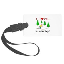 I Love X Country Luggage Tag