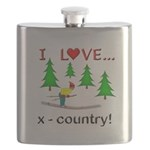 I Love X Country Flask