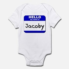 hello my name is jacoby  Infant Bodysuit