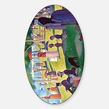 A Sunday Afternoon on La Grande Jat Sticker (Oval)