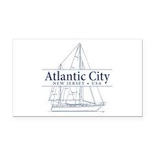 Atlantic City - Rectangle Car Magnet