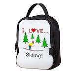 I Love Skiing Neoprene Lunch Bag