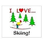 I Love Skiing Small Poster