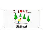 I Love Skiing Banner