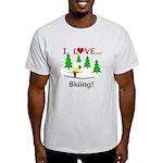 I Love Skiing Light T-Shirt